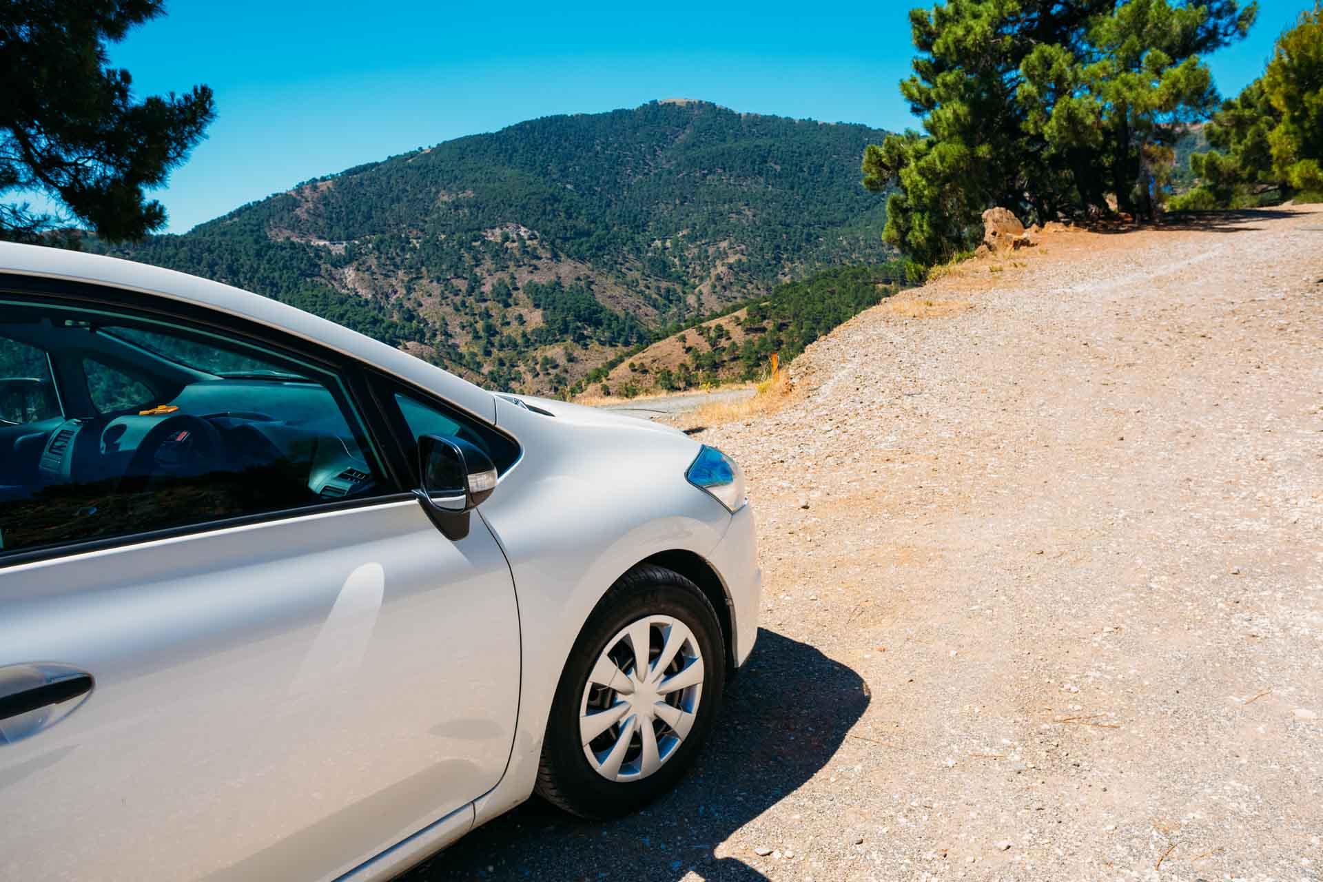 Auto zonvakantie Spanje